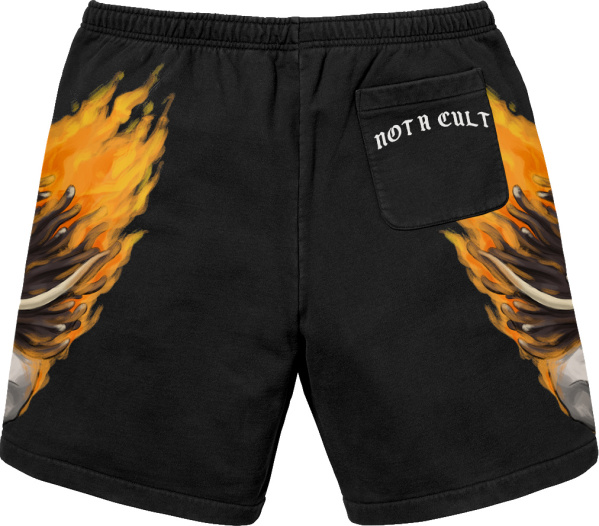 Saint Jhn Black Ignorant Shorts