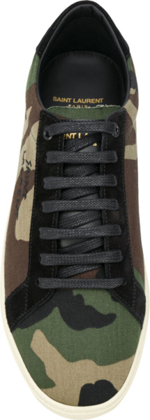 Saint Lauren Court Classic Camo Sneakers