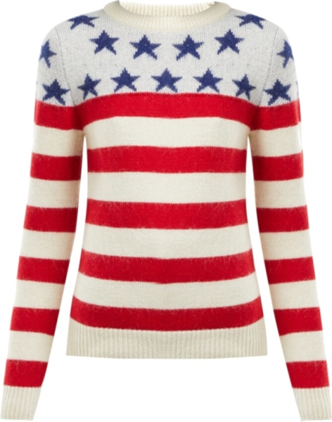 Saint Laurent American Flag Wool Sweater
