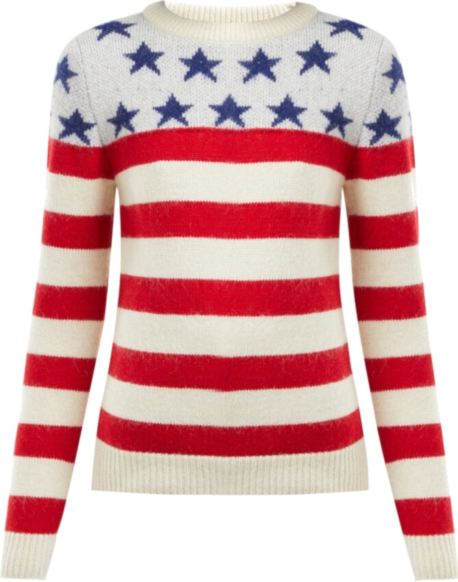American Flag Jacquard Sweater