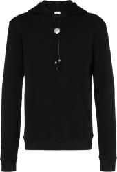 Saint Laurent Black Bolo Tie Hoodie