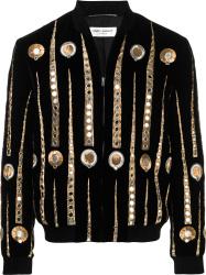 Saint Laurent Black Velvet Jukebox Jacket