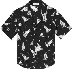 Saint Laurent Black White Sail Boat Shirt