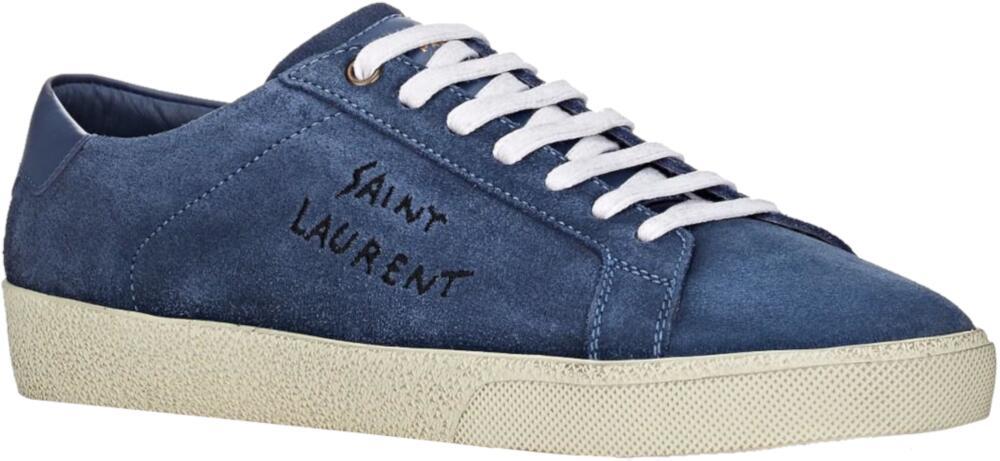 Saint Laurent Blue Suede Sneakers