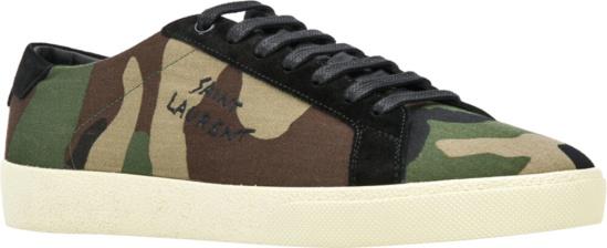Saint Laurent Camo Low Top Sneakers