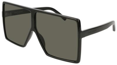 Saint Laurent Oversized Shield Black Sunglasses