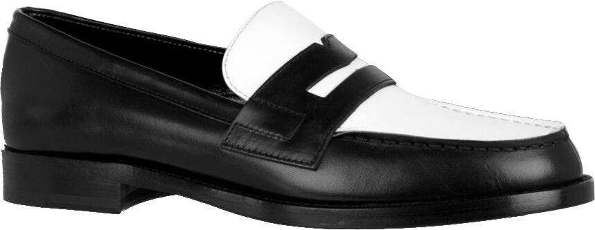 Saint Laurent Two Tone Penny Loafers