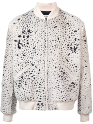 Saint Laurent White Fur Bomber Jacket
