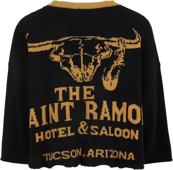 Saint Ramon Black And Gold Bull Sweater