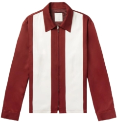 Sando Flowing Red And White Stripe Jacket Work By G Eazy