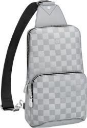 Silver Louis Vuitton Avenue Shoulder Bag