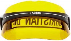 Yellow Dior Visor Worn By Ski Mask The Slump God in Faucet Failure Music Video