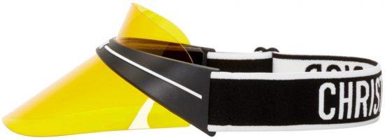 Yellow Dior Visor Worn By Ski Mask The Slump God