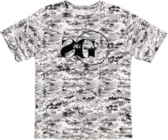 Sniper Gang Grey Digital Camo T Shirt