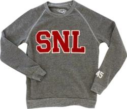 Snl Varsity Match Grey Crewneck Sweatshirt