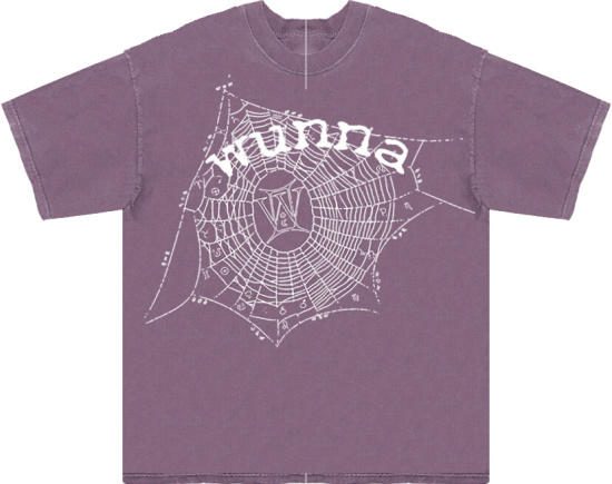 Spider Worldwide X Gunna Light Purple Zodiac T Shirt