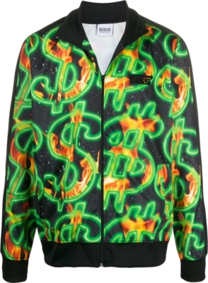 Sss World Corp Money Sign Print Jacket