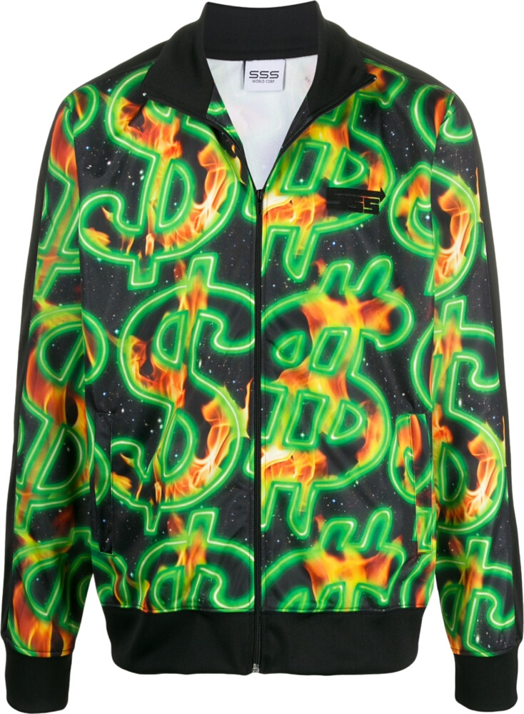 Sss World Corp Money Sign Print Jacket