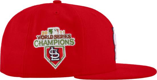 St Louis Cardinals Red 2011 World Series Logo Hat