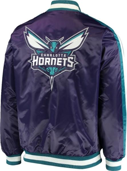 Starter Charlotte Hornets Purple Bomber Jacket