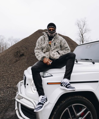Stefon Diggs Wearing A Kapital Sherpa Fleece With Adidas X Y 3 Knit Sneakers