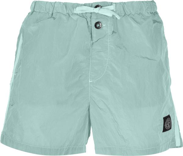 Stone Island Aquq Green Swim Shorts B0643