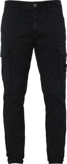 Stone Island Black Cargo Pants