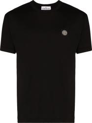 Stone Island Black Logo Patch T Shirt