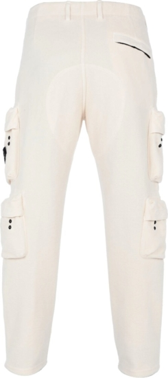 Stone Island Five Pocket White Fleece Pants