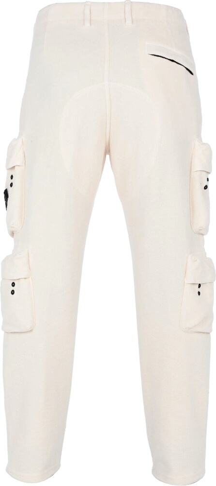 Stone Island Five Pocket White Fleece Pants