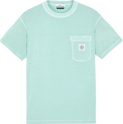 Stone Island Light Blue Green T Shirt