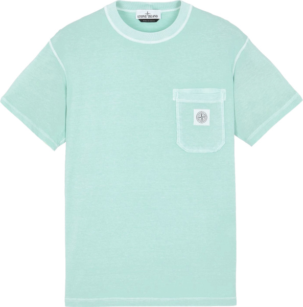 Stone Island Light Blue Green T Shirt