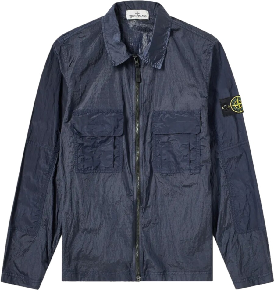 Stone Island Navy Nylon Jacket