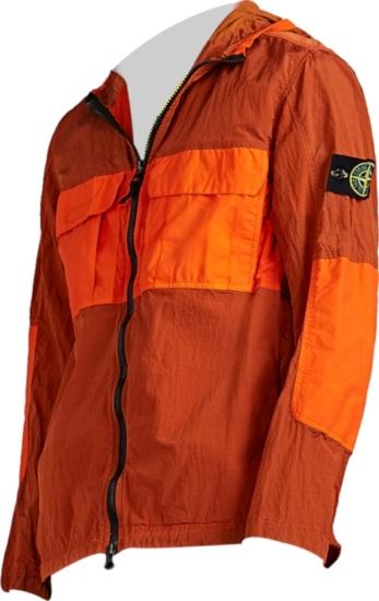 Stone Island Xo Barneys Orange Jacket