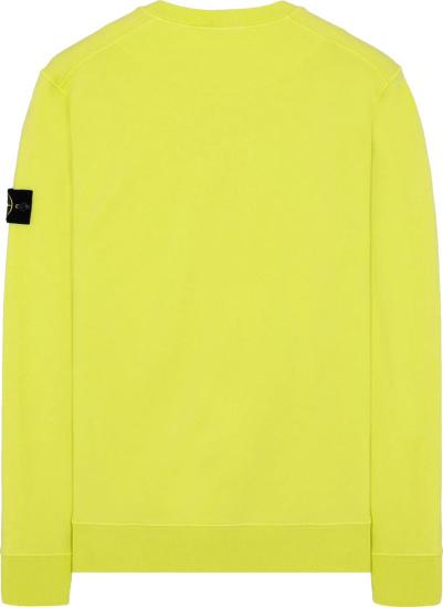 Stone Island Yellow Block Sweatshirt