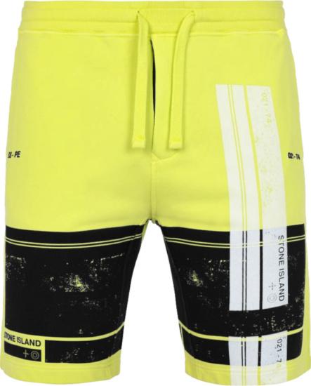 Stone Island Yellow Block Sweatshorts