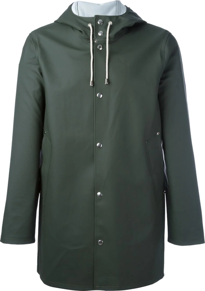 Studderheim Green Hooded Rain Coat