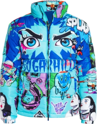 Sugarhill Blue Psycho Puffer Jacket