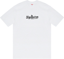 White 'Stay Positive' T-Shirt