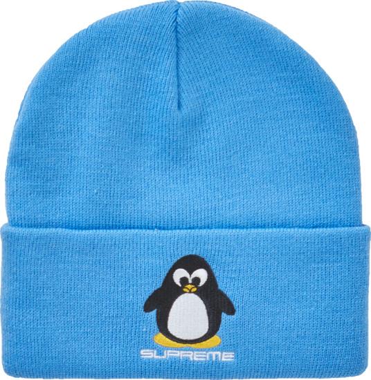 Supreeme Neon Blue Penguin Beanie