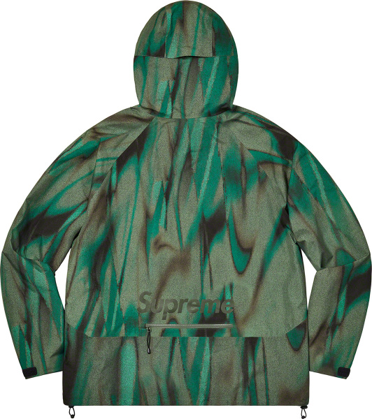 Supreme Abstract Green Paclite Goretex Jacket