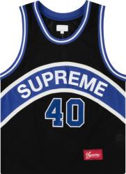Supreme Black Curve Basketball Jersey