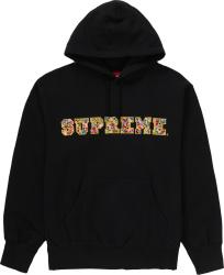 Supreme Black Jewels Logo Hoodie Fw20