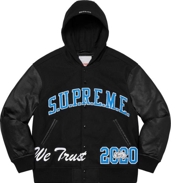 Supreme Black King Varsity Jacket