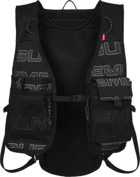 Supreme Black Mesh Cargo Vest Fw21