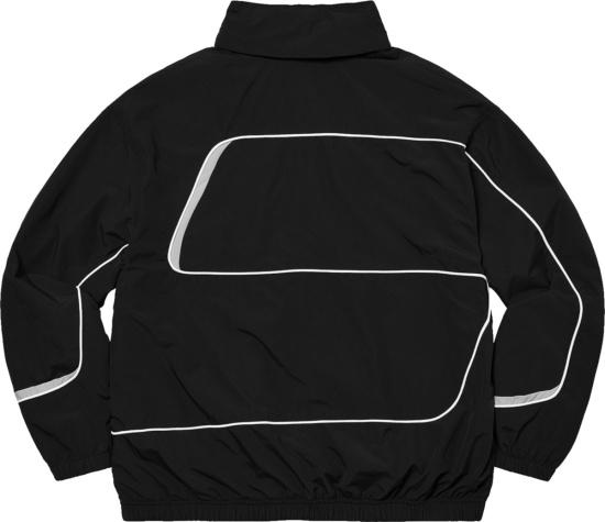 Supreme Black S Paneled Logo Track Jacket