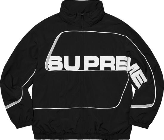 Supreme Black S Paneled Windbreaker Jacket