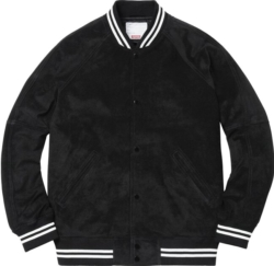 Supreme Black Suede Bomber Jacket