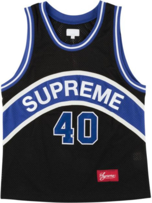 Supreme Blue Curve Basketball Jersey Worn By Tory Lanez