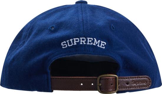Supreme Blue Wool Hat Letter S